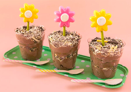 Pocky Dirt Pudding Cups